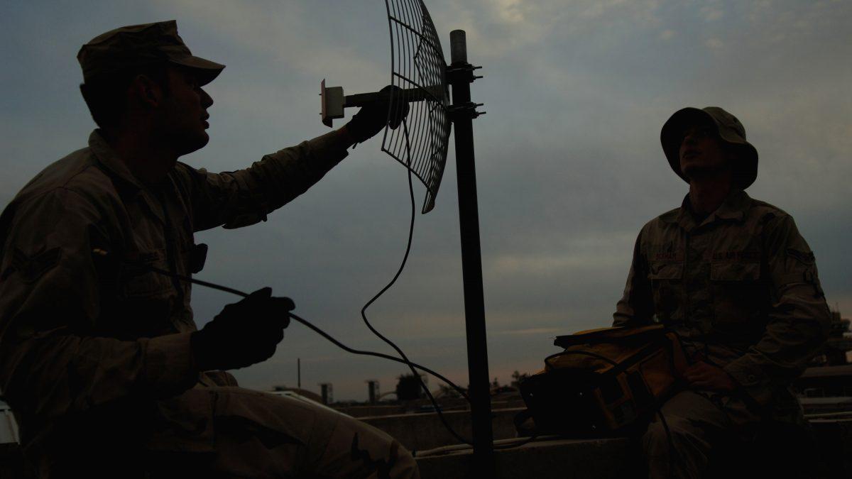 directional antenna installation